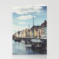 copenhagen Stationery Cards featuring Nyhavn Copenhagen by Ubersuper (Stefan Sicher)