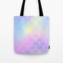 Pink Blue Mermaid Tail Abstraction Tote Bag