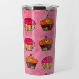 Cupcake Popart by Nico Bielow Travel Mug