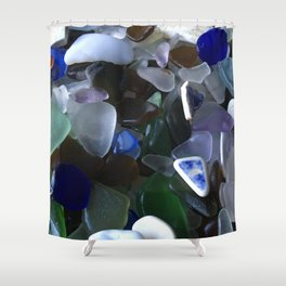 Sea Glass Assortment 4 Shower Curtain