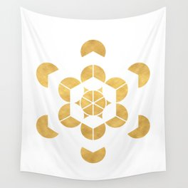 HEXAHEDRON CUBE sacred geometry Wall Tapestry