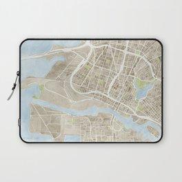 Oakland California Watercolor Map Laptop Sleeve