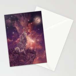 wolf and sky Stationery Cards