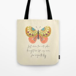 Botanical Butterfly: She began to Fly Tote Bag