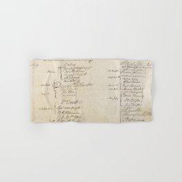 United States Constitution Signatures Hand & Bath Towel