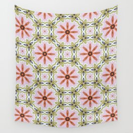Pink Peppermint Patty Wall Tapestry