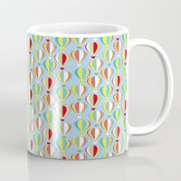 hot air balloons Mugs featuring Hot Air Balloons by Jessica Draws