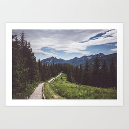 Greetings from the trail - Landscape and Nature Photography Art Print