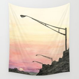 Highway Sunset Wall Tapestry