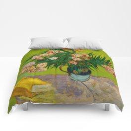 Oleanders Vincent van Gogh Oil On Canvas Floral Still Life Painting Comforters