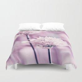 Allium pink macro 257 Duvet Cover