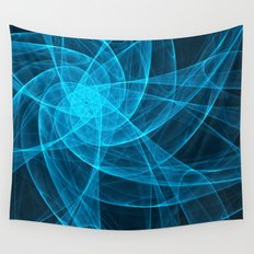 Tulles Star Computer Art in Blue Wall Tapestry