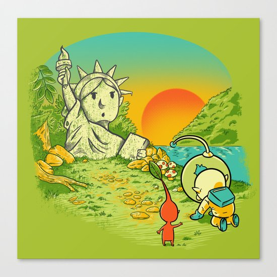 Planet of the Pikminis Canvas Print