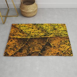 rotten yellow leaf texture Rug