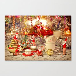 Christmas Tea Canvas Print