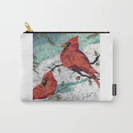 Cardinals In Winter Carry-All Pouch