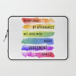 Do Not Judge By Appearances John 7:24 Laptop Sleeve