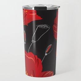 Poppy variation 8 Travel Mug