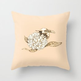 Where did the bees disappear? Throw Pillow