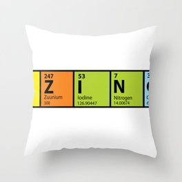 Bazinga Periodical Throw Pillow