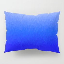 Blue to White ombre flames Pillow Sham