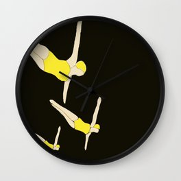 Synchronized Swimmers Wall Clock