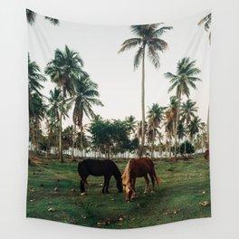 Horses in Samana, Dominican Republic Wall Tapestry