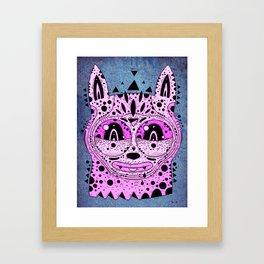 pink cat Framed Art Print