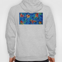 Koi Pond 2 - Liquid Fish Love Art Hoody