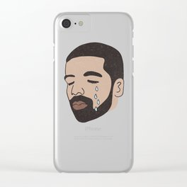 drake crying Clear iPhone Case