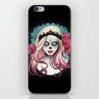 dia de los muertos iPhone & iPod Skins featuring ¡Dia de los Muertos! by Tati Ferrigno