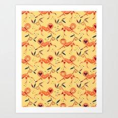 Fire monkey Art Print