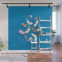 Lost Sock Party Wall Mural