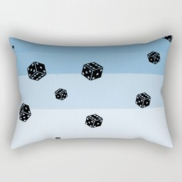 It's kinda raining dices Rectangular Pillow