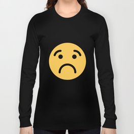 Smiley Face   Cute Quite Sad Smileys Long Sleeve T-shirt