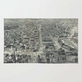 Vintage Pictorial Map of Providence RI (1895) Rug