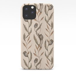 Poppy Pod Pattern iPhone Case