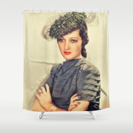 Dorothy Lamour, Vintage Actress Shower Curtain