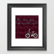The chain fell off my bike Framed Art Print