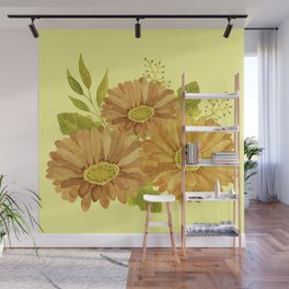 Happy Marigold Bouquet Wall Mural