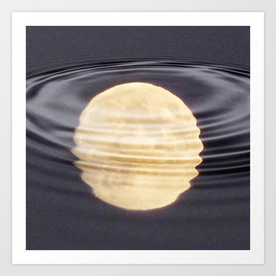 Cold Moon Reflections Art Print