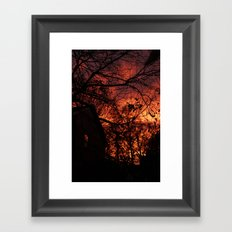 Sky Aflame Framed Art Print