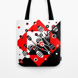MICROGRAVITY - RED & BLACK Tote Bag
