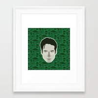 mulder Framed Art Prints featuring Fox Mulder by Kuki