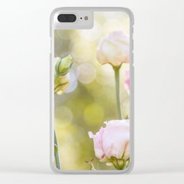 Rose Bokeh Clear iPhone Case