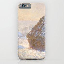 Claude Monet - Wheatstacks, Snow Effect, Morning (Meules, Effet de Neige, Le Matin).jpg iPhone Case