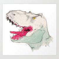 jurassic park Art Prints featuring JURASSIC PARK by Gianluca Floris