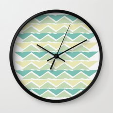 ocean triangles Wall Clock
