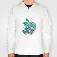 apple Hoodies featuring APPLE by Monika Strigel