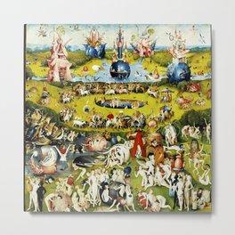 Bosch Garden Of Earthly Delights Panel 2 Metal Print